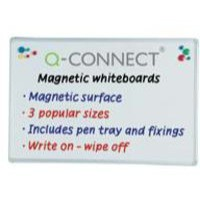 Image for Q-Connect Magnetic Dry Wipe Board 900x600mm