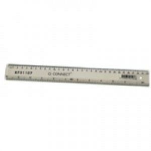Q-Connect Ruler 300mm Clear