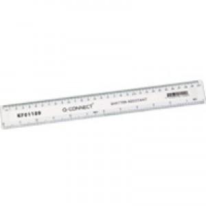 Q-Connect Ruler Shatterproof 300mm White
