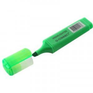 Q-Connect Highlighter Pen Green Pk 10 KF01113