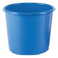 Image for Q-Connect Blue 15 Litre Waste Bin