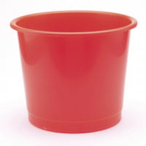 Q-Connect Waste Bin 15 Litre Red