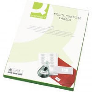 Q-Connect Multi-Purpose Label 105x37mm Butt Cut 16 per A4 Sheet Pack of 100 White