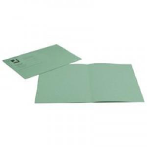 Q-Connect Square Cut Folder Medium-weight 250gsm Foolscap Green