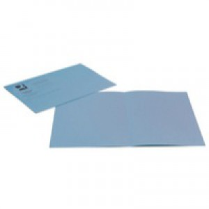 Q-Connect Square Cut Folder Medium-weight 250gsm Foolscap Blue