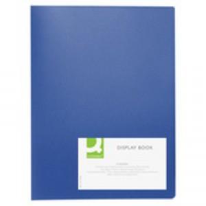 Q-Connect Display Book 10-Pocket Blue