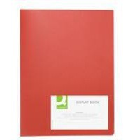 Q-Connect Display Book 20-Pocket Red