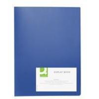 Q-Connect Display Book 20-Pocket Blue