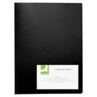 Q-Connect Display Book 20-Pocket Black
