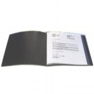 Q-Connect Presentation Book 20-Pocket Black