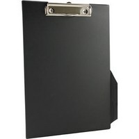Q-Connect PVC Clipboard A4/Foolscap Black