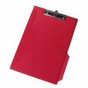 Q-Connect PVC Clipboard Foolscap/A4 Red