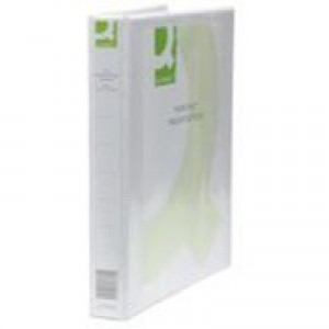 Q-Connect Presentation 4D-Ring Binder 25mm A4 White