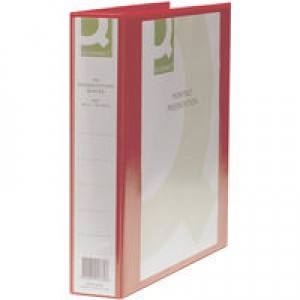 Q-Connect Presentation 4D-Ring Binder 40mm A4 Red