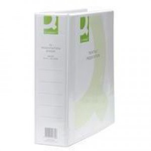 Q-Connect Presentation 4D-Ring Binder 65mm A4 White