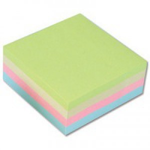 Q-Connect Quick Note Cube 75x75mm Pastel