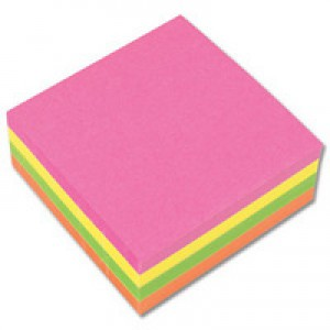 Q-Connect Quick Note Cube 75x75mm Neon
