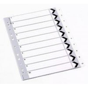 Q-Connect Index A4 Multi-Punched 1-10 Polypropylene White
