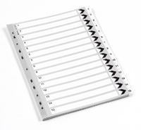 Q-Connect Index A4 Multi-Punched 1-15 Polypropylene White
