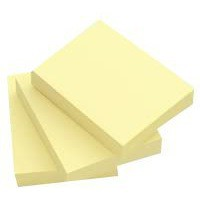 Q-Connect Quick Note Repositionable Pad 75x100mm Yellow