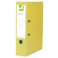 Q-Connect Lever Arch File Foolscap Paper-Backed Yellow