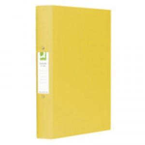 Q-Connect 2-Ring Binder A4 25mm Polypropylene Yellow