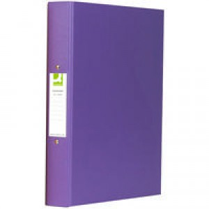 Q-Connect 2-Ring Binder A4 25mm Polypropylene Purple