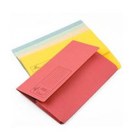 Q-Connect Document Wallet 285gsm Foolscap Assorted Pack of 50