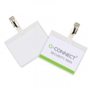 Q-Connect Security Badge 60x90mm Pack of 25 KF01562