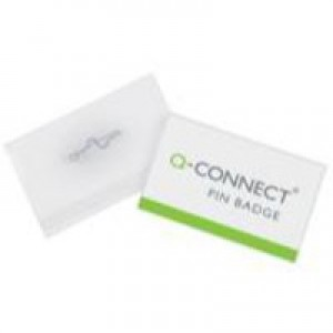 Q-Connect Pin Badge 54x90mm Pack of 50 KF01564