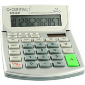 Q-Connect Semi-Desktop Calculator 12-digit