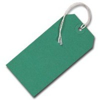 Q-Connect Strung Tag 120x60mm Green Pack of 1000
