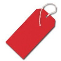 Q-Connect Strung Tag 120x60mm Red Pack of 1000