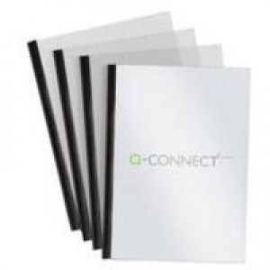 Q-Connect A4 5mm Slide Binder/Cover Set Black Pack of 20 KF01926