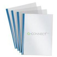 Q-Connect A4 5mm Slide Binder/Cover Set Blue Pack of 20