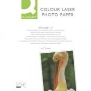 Q-Connect A4 Semi-Gloss Colour Laser Paper 218gsm Pack of 100 KF01935