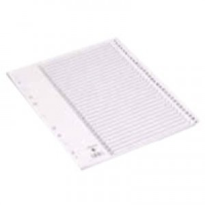 Q-Connect Index A4 Multi-Punched 1-31 Reinforced White Board Clear Tabbed