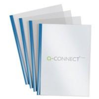 Q-Connect A4 5mm Slide Binder/Cover Set Blue Pack of 100