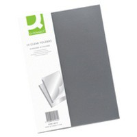 Q-Connect Clear Binding Folder Pack of 10