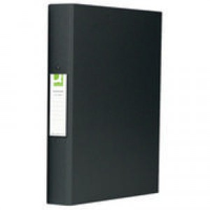 Q-Connect 2-Ring Binder A4 25mm Polypropylene Black KF02005