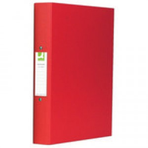 Q-Connect 2-Ring Binder A4 25mm Polypropylene Red