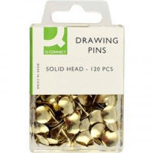 Q-Connect Drawing Pin Solid Head Pack of 120 KF02018Q