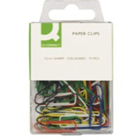 Q-Connect Paperclip 32mm Coloured Pack of 75