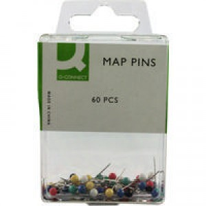 Q-Connect Map Pin Pack of 60 KF02030Q