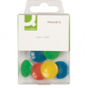Q-Connect Magnet 24mm Assorted Pack of 6 KF02040Q