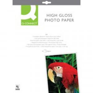 Q-Connect Photo Paper High Gloss A4 260gsm White Pk 20 KF02163