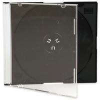 Q-Connect CD Jewel Case Slim Black Pack of 25
