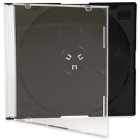 Q-Connect CD Jewel Case Slim Black Pack of 25