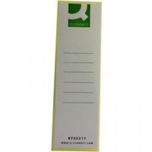 Q-Connect Lever Arch File Spine Label Pack of 10 KF02217