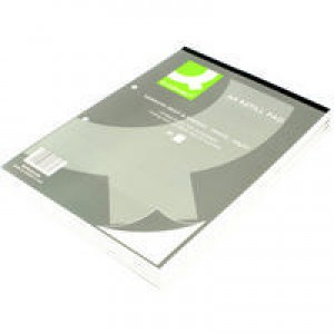 Q-Connect Refill Pad A4 Ruled Narrow Feint and Margin Punched 2-Hole Head Bound 80 Leaf
